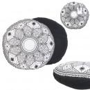 Pillow black mirage round black 40cm