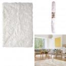 tapis imitation fourrure ecru 115x170cm