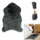 Großhandel Home & Living: dunkelgrauer Felleffektteppich 60x90cm, 1-fach wie