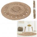 openwork jute round rug 90cm