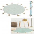 wholesale Carpets & Flooring: round carpet coton pompom celadon 90cm