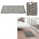 tapis berbere relief losange fond noir 60x90cm