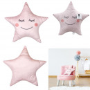 wholesale Cushions & Blankets:Pillow pink star 44x37cm