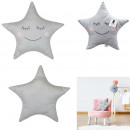 wholesale Cushions & Blankets:Pillow gray star 44x37cm