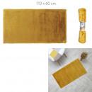 feiner senffarbener Kunstpelzteppich 110x60cm