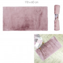 feiner rosa Kunstpelzteppich 110x60cm
