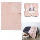 Großhandel Puppen & Plüsch: rosa geprägtes Plaid 140x200cm