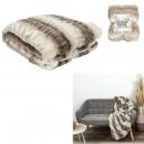 luxury faux fur plaid 140x200cm