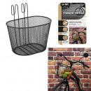 mayorista Deporte y ocio: Cesta de bicicleta de metal negro de 10l