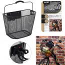 mayorista Deporte y ocio: Cesta para bicicleta de metal negro con clip autom
