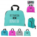wholesale Travel Accessories: Foldable backpack, 4-fold assorted
