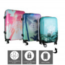 California suitcase x3, 1- times assorted
