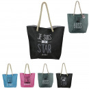 Beach tote words, 4- times assorted