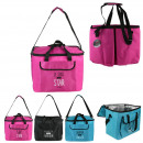 wholesale Cooler Bags: cool bag 33x25x40cm words, 3- times assorted