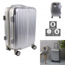 40l gray new york cabin suitcase