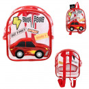 car backpack with child patch