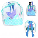 children's mermaid backpack with sequins