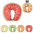 Großhandel Reiseartikel: Kissen Nacken von ,Frucht-Mikroperlen 4- fach sort