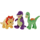 Plush Dinosaur 15cm 3 assorted