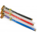 ingrosso Altro: spada ninja con fodero 61CM 3 colori assortiti