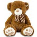 Plush Brown Bear with Scarf 94cm