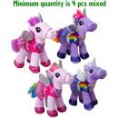 Plüss Unicorn a ruha 4 különböző 30cm
