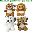 Wildlife Plush Cat 4 15 centimetri assortiti