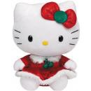 Hello Kitty baba Plüss 15cm karácsonyi ruha piros