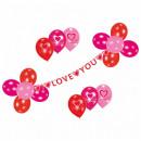mayorista Casa y decoración: Deko Conjunto Garland con 17 globos Sweet Love