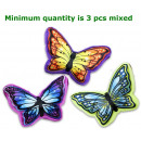 grossiste Coussins & Couvertures: coussin Papillon 3 assorti 23cm