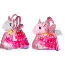 Peluche Unicorn Allongé dans 2 sac à main assortis