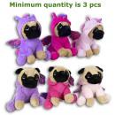 Plush Dog 20cm in unicorn costume 3 assorted