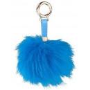 Pompom keychain blue 10cm