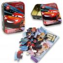 Disney Cars 3 puzzle 24 pieces in tin