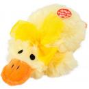 Großhandel Spielwaren: Plüsch Ente liegend mit Ton 15cm