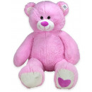 Plush Bear sitting Pink 90cm (standing 110cm)