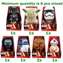 Star Wars Plush with sound 7 assorted 24cm