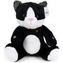 grossiste Jouets: Cat Peluche Noir Blanc 30cm