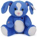 grossiste Jouets: Lapin en peluche bleu 30cm
