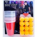 nagyker Élelmiszer- és élvezeti cikkek: Sör-pong játék 48 db 33x29cm