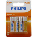 Philips Longlife R6 AA 4 pièces