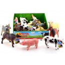 Animal World Farm Animals, Soft 6 assorted