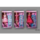 Großhandel Spielwaren: Teenagerpuppe Claudia 3 30cm sortiert