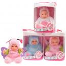 Babypop met dierenpak Cute Baby 4 assorti 22,5cm