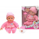Baby doll with bottle of Cute Baby 2 assorted 30cm