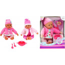 Babypop met accessores Cute Baby 2 assorti 40cm