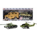 Army combat vehicles and two pieces friction 3 ass