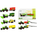 DIECAST agricultural vehicle + trailer 7 assorted