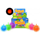 Pufferball 12cm with face and light 6 assorti in d