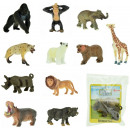Animals miniature 12 assorted in polybag